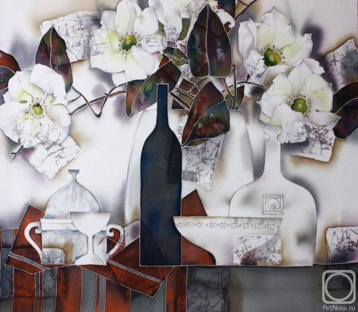 Королькова Мария. Натюрморт с цветущей веткой