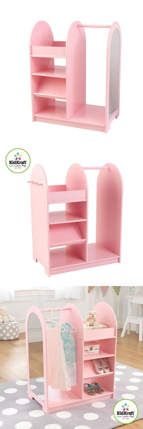 Exceptional Dress Up Costumes 19172: Pink Kidkraft Fashion Pretend Play Station Dress  Up Storage Organizer