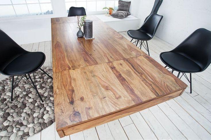 Duży rozkładany drewniany stół Lagos