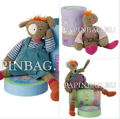 Забавные, дурашливые мягкие игрушки - охотно и с удовольствием поселятся в детской комнате. У каждой коллекционной мягкой игрушки своя подарочная коробка-домик! Трогательный щенок, задиристый мышонок и добродушный цыпленок - классный вариант для подарка ребенку на день рождения и просто по случаю!  http://www.papinbag.ru/?m=4604