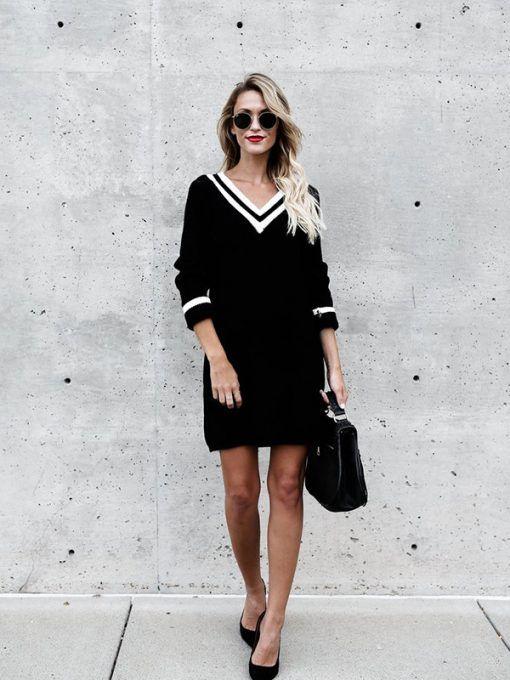 7b20a9f5128 Φόρεμα πλεκτό πουλόβερ | φορεμα για τον γαμο του λεων | Πουλόβερ και ...