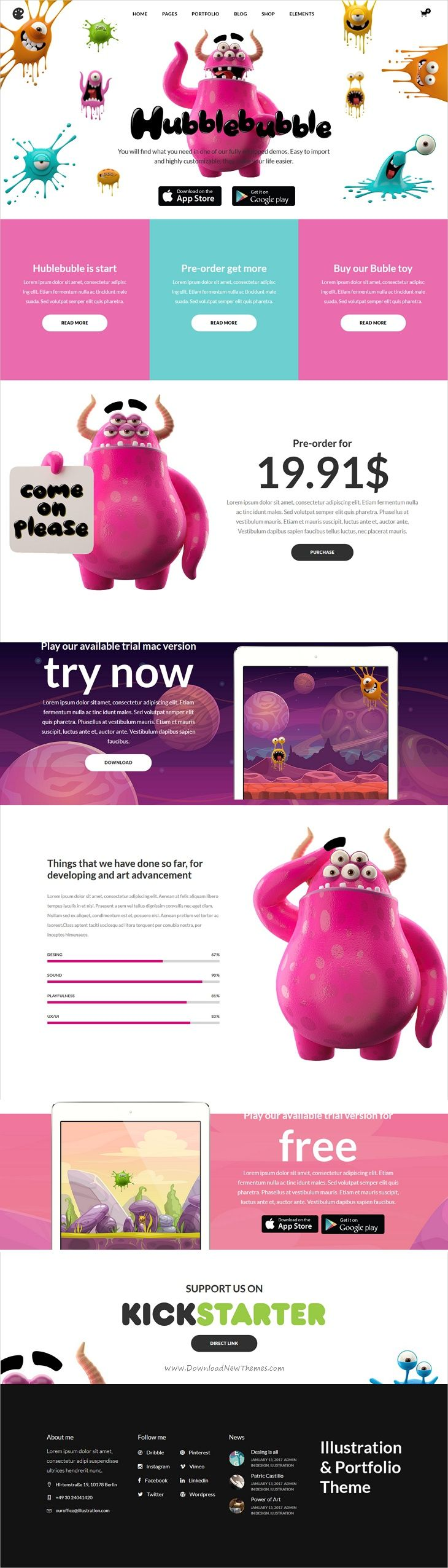 Illustrator is beautifully design 15in1 creative #WordPress theme for #app #game illustrators, animators, concept artists, freelancers or storytellers websites download now➩ https://themeforest.net/item/illustrator-a-portfolio-theme-for-illustrators-designers-and-artists/19374923?ref=Datasata