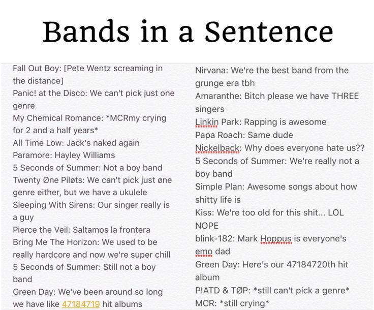 """Bands in a Sentence - for those of you who don't speak Spanish, """"saltamos la frontera"""" is """"we hopped the border"""""""
