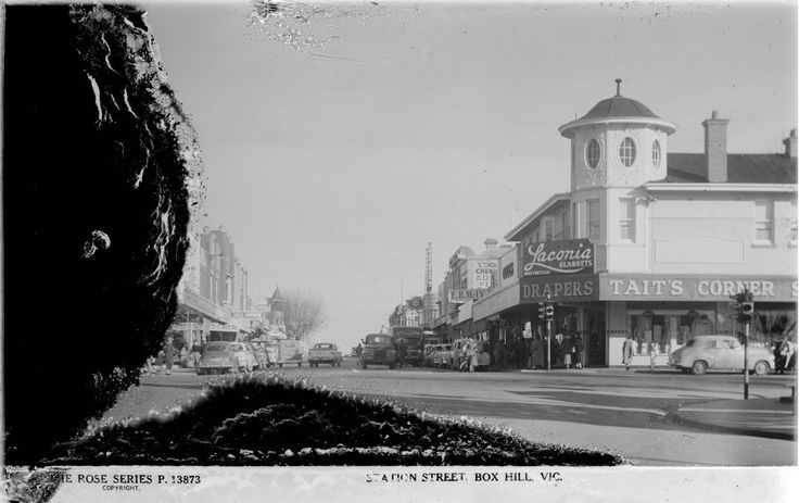 Box Hill - Taits corner, Station St and Whitehorse Rd.