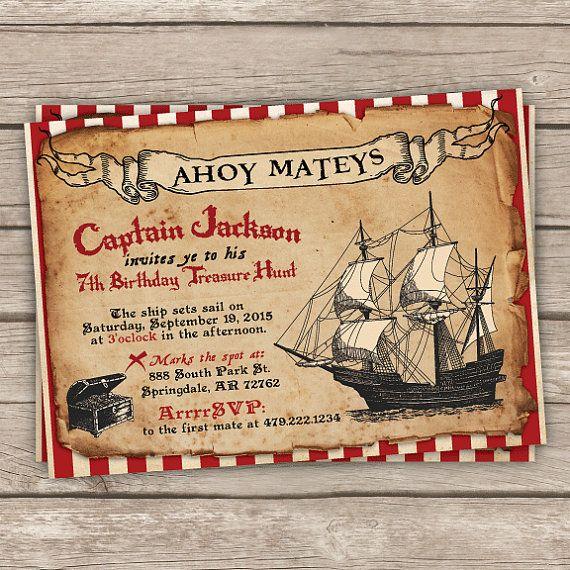 Best 25+ Pirate Birthday Invitations Ideas On Pinterest