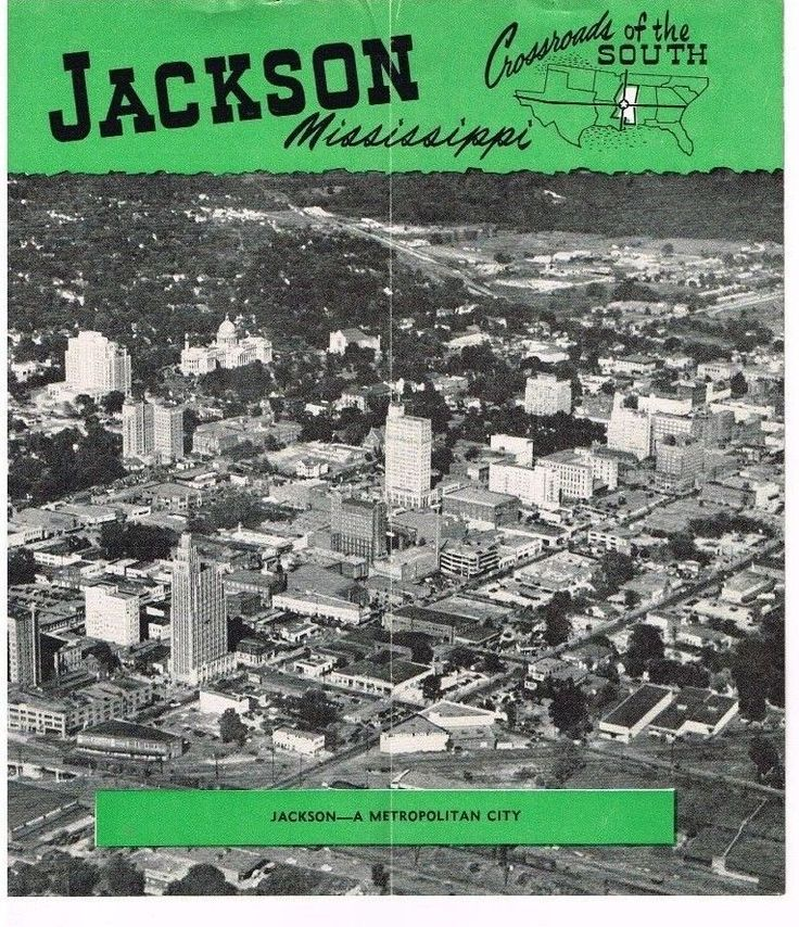 Vintage Jackson Mississippi Travel Brochure Crossroads South Dixie Pictures Info