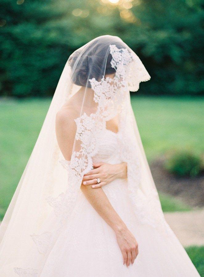 wedding dress and veil idea; photo: Joey Kennedy Photography