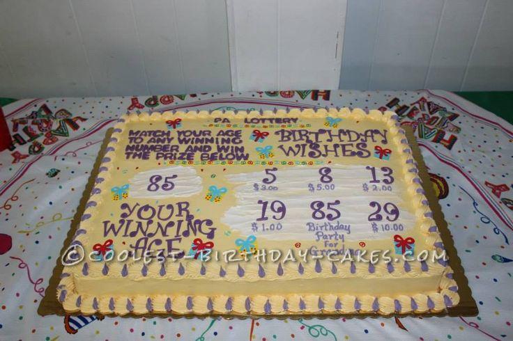 Birthday Cash Lotto Tickets Cake