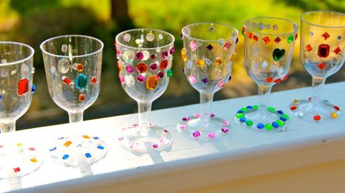 Decorating goblets - craft activity, useful and to take home!