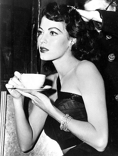 Ava Gardner during the filming of The Killers in 1946.