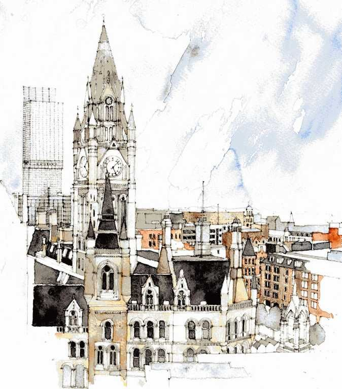 Manchester Town Hall 1 - Simone Ridyard, Manchester architect and artist