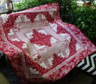 Red and white log cabin quilt by NannyGrans on Etsy. Love, love, love red and white quilts!