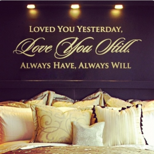perfect master bedroom decal <3