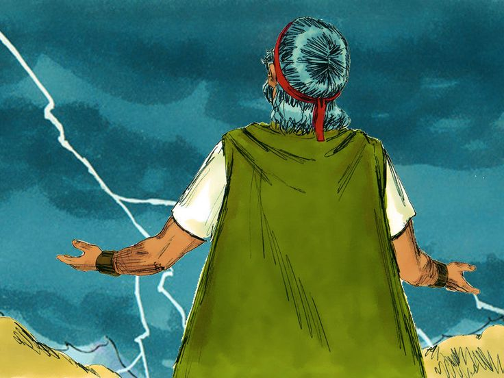 Moses climbed back up the mountain to ask God to forgive His people for their disobedience. – Slide 21