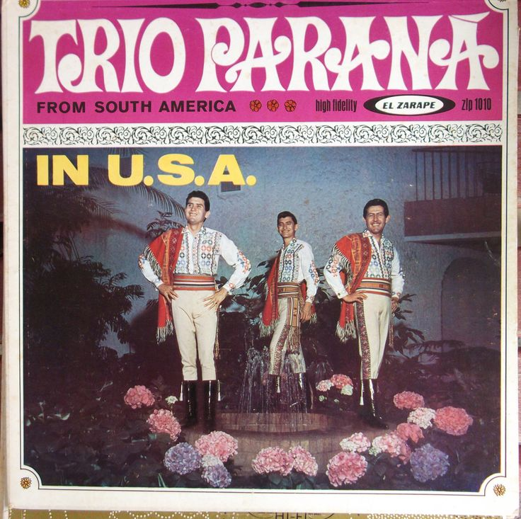 Trio Parana from South America In U.S.A., El Zarape Label, Autographed, Vintage Record Album, Vinyl LP, Latin Music, Music from Paraguay by VintageCoolRecords on Etsy