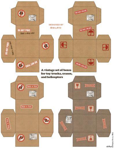 vintage boxes... Le lapin dans la lune - Non dairy Diary - Paper toy for a boy Ilove