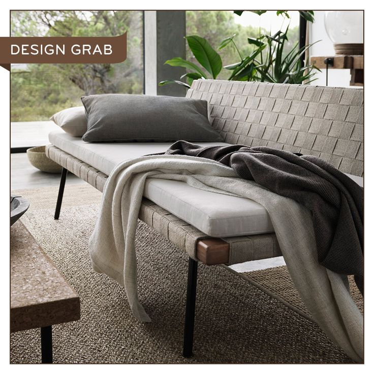 IKEA SINNERLIG Daybed  Blond acacia wood and woven jute are classic Scandi  hallmarks that make