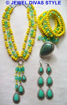 "My ""A Bardot Summer"" jewellery set based on Samantha Wills' Bardot earrings - http://jeweldivasstyle.com/designer-inspired-how-i-made-my-own-samantha-wills-bardot-jewellery-set/"