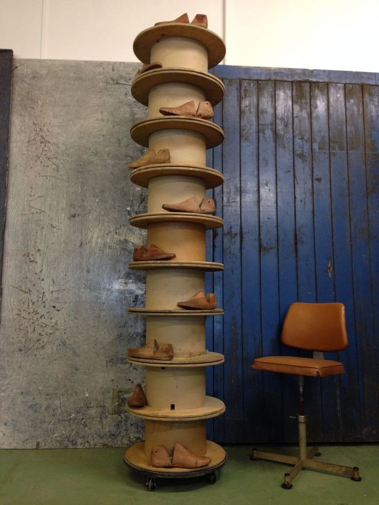 Revolving Shoe Organizer Part - 31: TALL REVOLVING SHOE RACK / DISPLAY STAND, Old Cable Reels