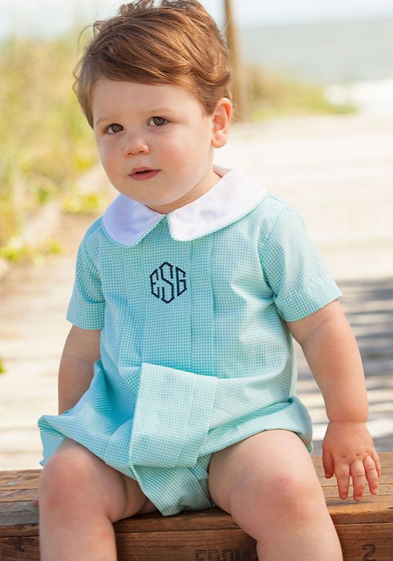 Shrimp & Grits Kids - Boys Smocked and Appliques Kids Clothing Longalls Jon Jons Bubbles Sets Baby Toddler Infant Southern Classic Preppy Easter