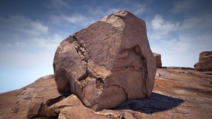 ArtStation - Wasteland Rocks Lrg 1 - UE4, Justin Owens
