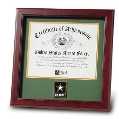 Army Certificate Frame with Go Army Medallion