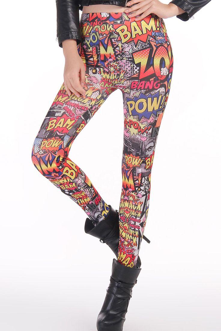 Hot Up Comic Leggings