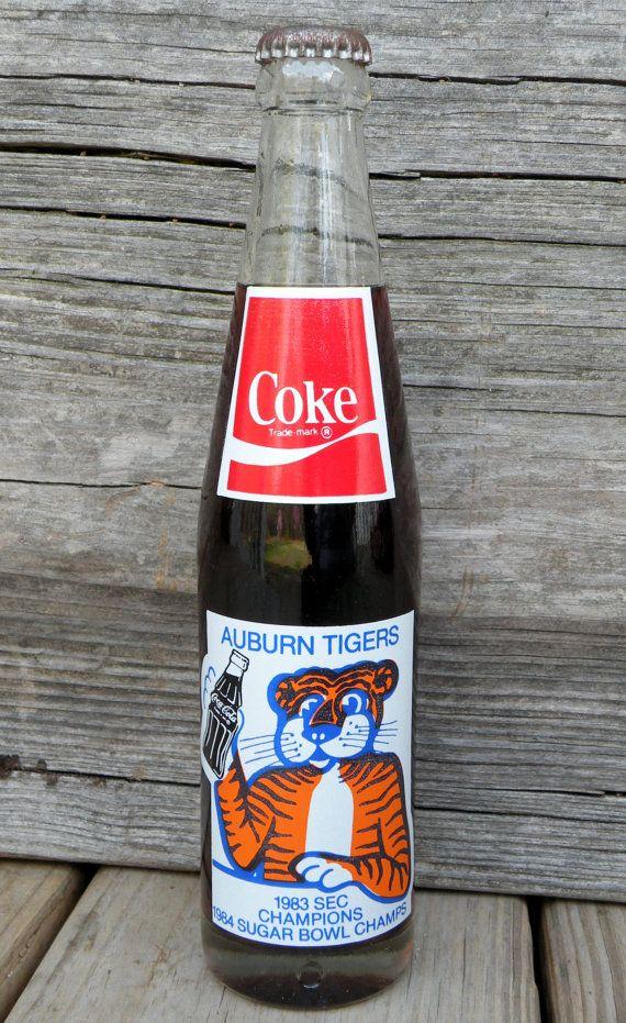 Auburn tigers 1983 championship vintage coke bottle vintage coke auburn tigers and coke - Coca cola championship table ...