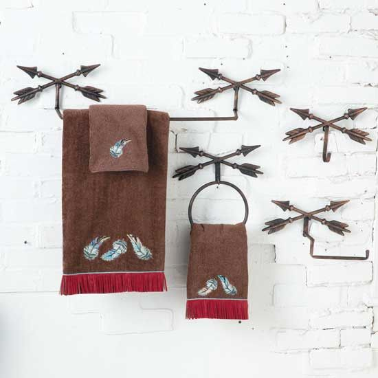 ... This Rustic Metal Arrow Bathroom Collection Is Just What Youu0027re Looking  For. Choose From A Mirror, Wall Rack, Towel Bar, Robe Hook, Toilet Paper  Bar, ... Images
