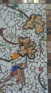 Telas Abstratas para decorações de ambientes. Decore com arte! Temos Aulas de pintura também. : Mosaico porta chaves de beija flor