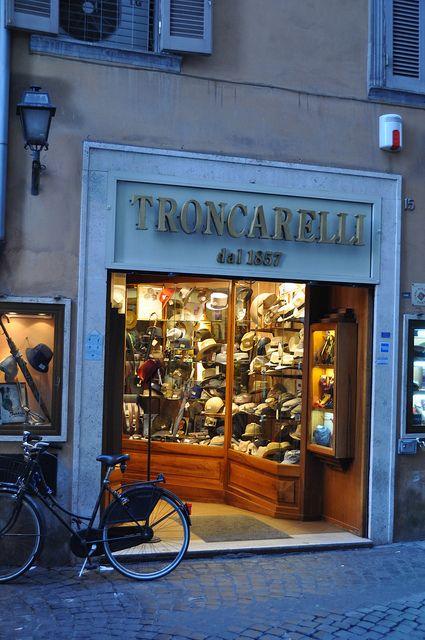 Troncarelli - A Hat Shop near Piazza Navona, Rome