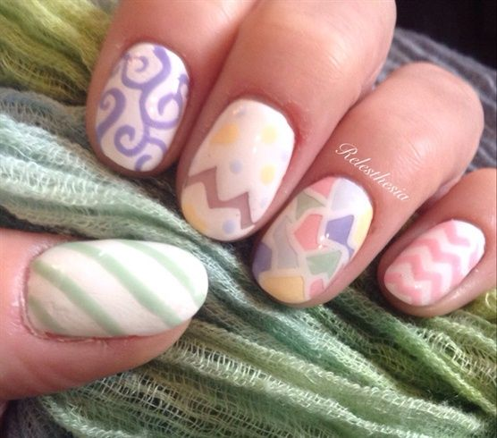 Easter Eggs by Relesthesia from Nail Art Gallery
