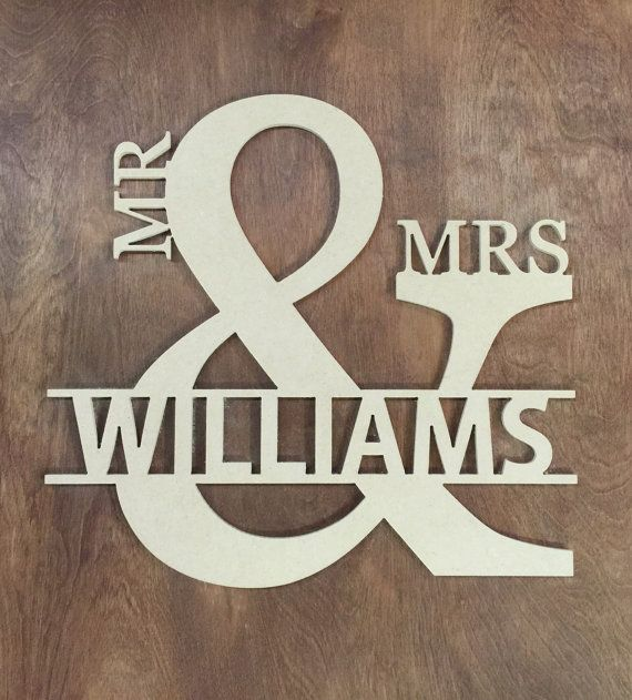 Big Mr and Mrs Wedding Decoration Door Wall Hanger Engagement