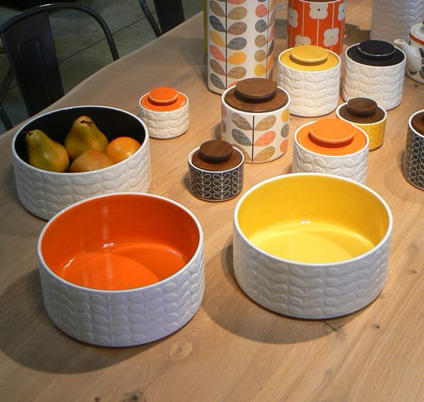 orla kiely kitchen | Raised Stem Salad Bowl Orla Kiely