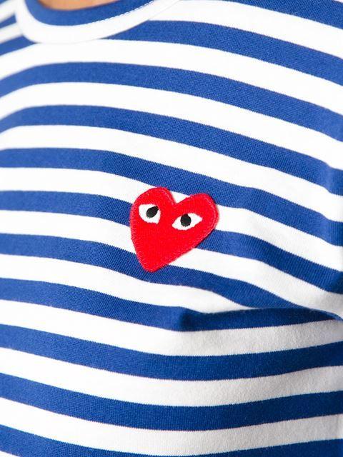 Comme Des Garçons Play T-shirt À Rayures - Start - Farfetch.com