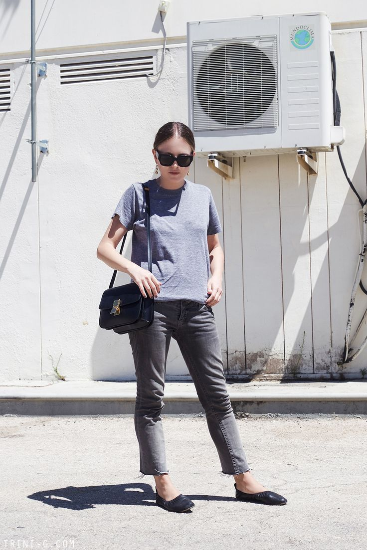 Balenciaga sunglasses (get them HERE) | Céline earrings (get them HERE) | American Apparel t-shirt (get it HERE) | Topshop jeans (similar HERE) | Céline ballerinas (get them HERE) | Céline bag (get it HERE)