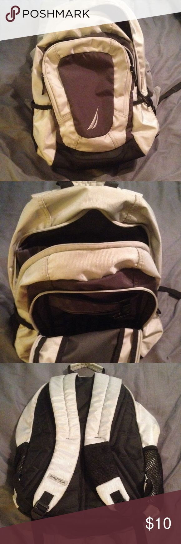 NAUTICA backpack Great used condition, laptop pouc…