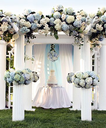 hydrangeas. #wedding #decor #weddings #venues #bridesclub