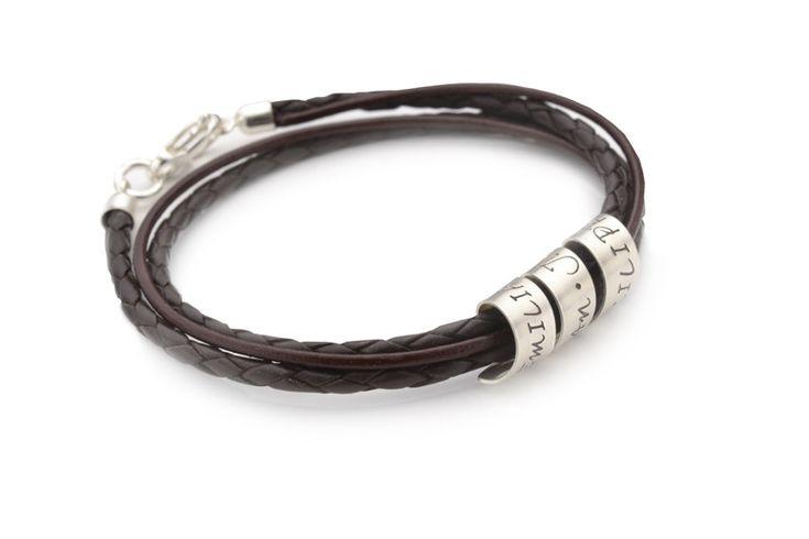 Lederarmbänder - Lederarmband Gravur 2-in-1 LOOP 925 Armband Damen - ein Designerstück von samavaya bei DaWanda