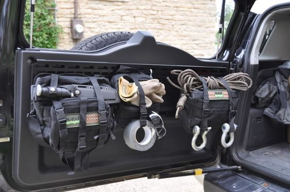 Mpac Hd Rear Door Rack With Molle Bags Cargo Barrier With