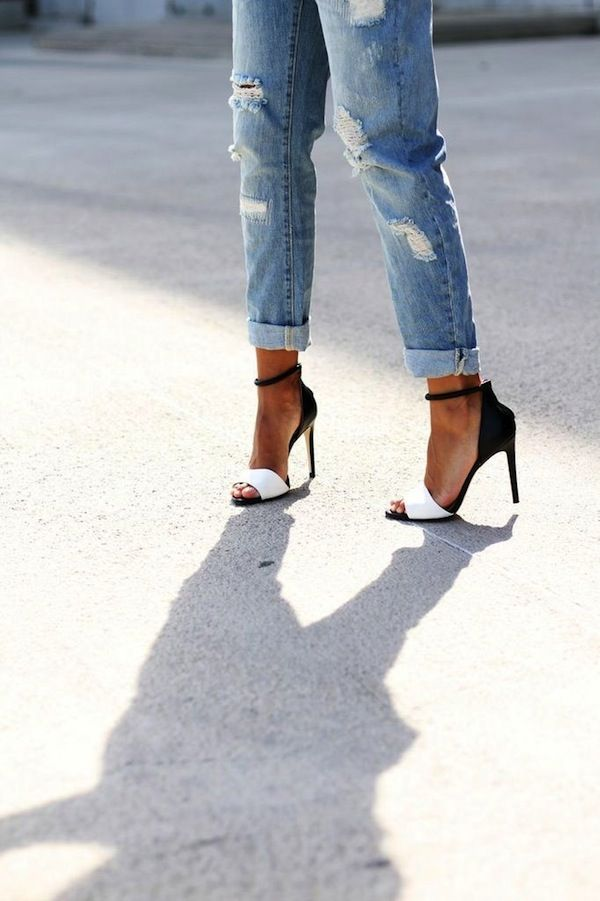 JEANS AND HIGH HEEL | FASHION | Pinterest