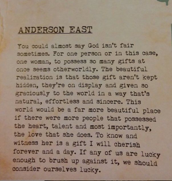 Anderson East on Miranda Lambert -