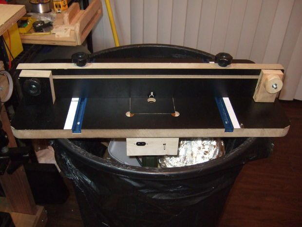 Picture of Garbage Can Dremel Router Table Table