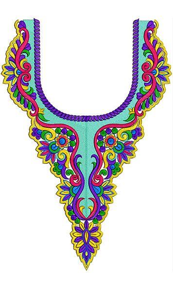 Necklines - Machine Embroidery Designs For Neck