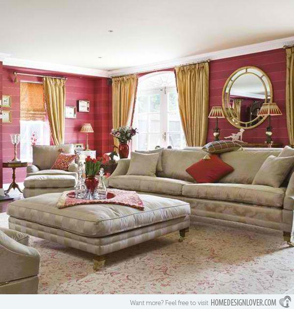 15 Mesmerizing Maroon Living Room Walls | Home Design Lover