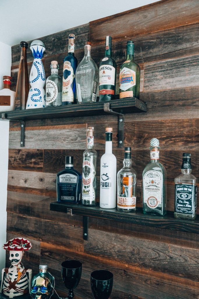 Bar Rescue Our Home Bar Makeover Rustic Floating Shelves Floating Shelves Diy Floating Shelves Bathroom