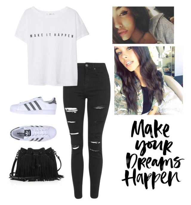"""unbreakable~madison beer"" by its-arya-barak ❤ liked on Polyvore featuring beauty, Topshop, MANGO, adidas Originals and Rebecca Minkoff"