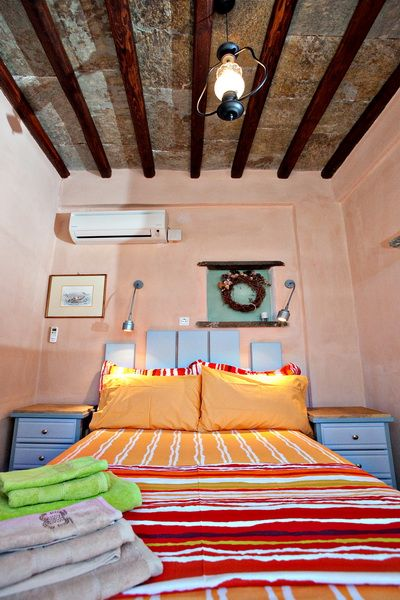 The island style bedrooms in the Yellow House of Tinos Habitart are designed to make you feel calm and rejuvenated http://www.tinos-habitart.gr/yellow-house.php