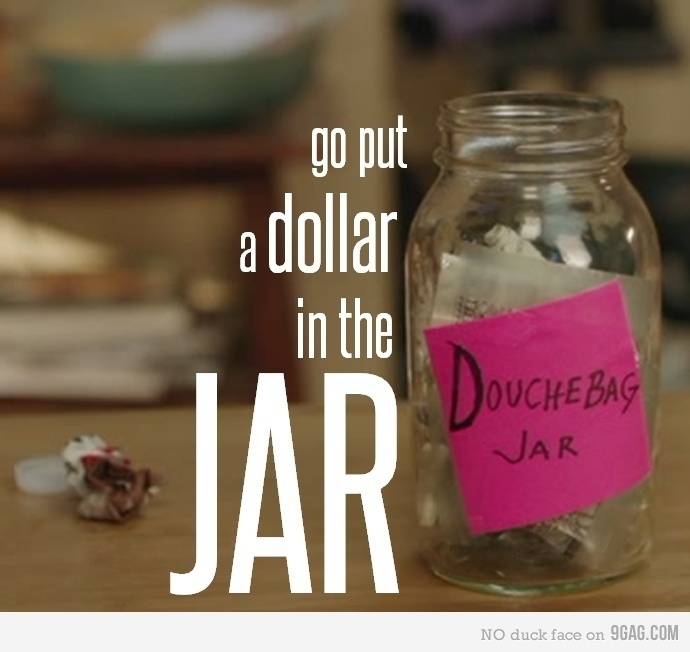 "New Girl: ""Schmidt, jar!"" - we should get Brandon a jar"