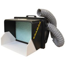 BV555-D Spray Booth Benchvent BV555-D Spray Booth The Benchvent BV555-D is a sturdy & rigid ABS plastic ducted extraction booth with a 39 watt Centrifugal, internal rotor motor blower, replaceable 5 micron particulate air filter & integrated carry handle. Price: £225.00